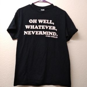 Nirvana Teen Spirit lyric t-shirt. Size Medium
